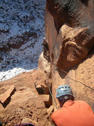 Rock Climbing Photo: Matt stacking the tag line while Sam adds a rappel...