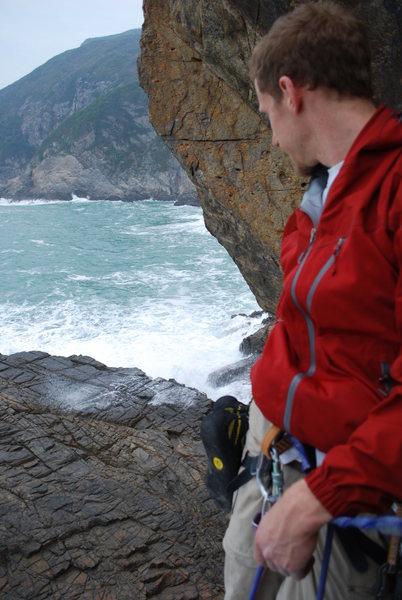 Rock Climbing Photo: crash wave close up.