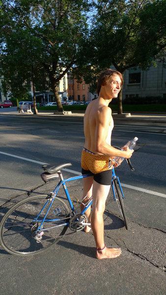 Underwear ride.