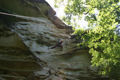 Rock Climbing Photo: Crux shot of the heal hook, where was Jan when I w...