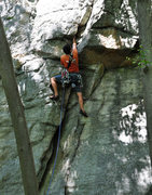 Rock Climbing Photo: Lance Lemkau starting up Bold-Ville
