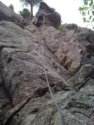 Rock Climbing Photo: Dave getting the onsight!!!