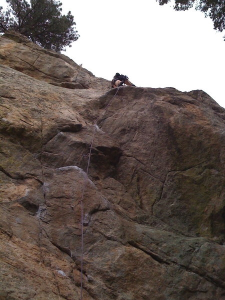 Rock Climbing Photo: Bill leading Thru Activist!!