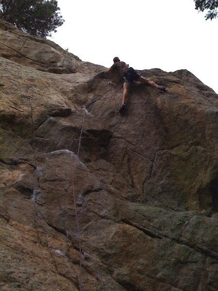 Rock Climbing Photo: @ the crux!!