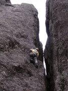 Rock Climbing Photo: Alternative 5.7 to the right of Better Than Pools ...