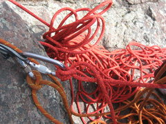 Rock Climbing Photo: Rope Management...