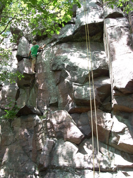 Rock Climbing Photo: The rope follows October Country, go left at the b...
