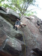 Rock Climbing Photo: Leading October Country.