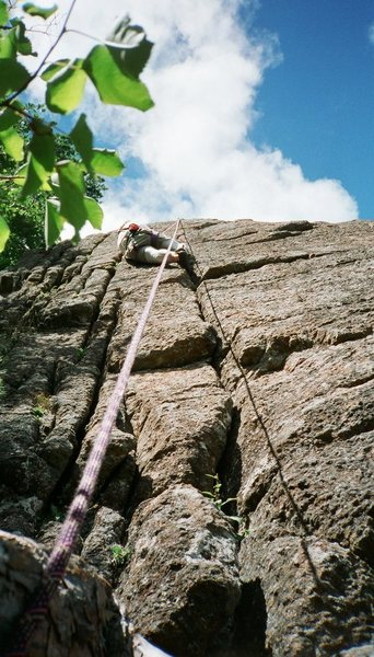 Rock Climbing Photo: Tobacco Road (5.4 to 5.9)