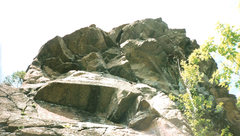 Rock Climbing Photo: Obsession Block from the lower ledge. Obsession Di...