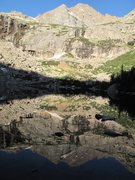 Rock Climbing Photo: McHenry's Peak as reflected from Black Lake