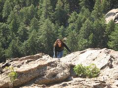 Rock Climbing Photo: Gigi solos Second Flatiron