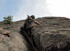 Rock Climbing Photo: Lee sends N Face Center p2.
