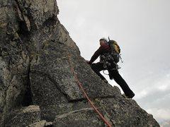 Rock Climbing Photo: Brett on North Ridge