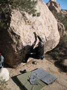 Rock Climbing Photo: A cold January day in the sun on Stoney Point Prob...