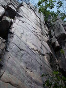 """Rock Climbing Photo: The face is """"Shooting Star""""."""