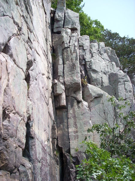 """Rock Climbing Photo: The right crack is """"Salt Peter"""" 5.8 and ..."""
