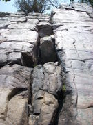 """Rock Climbing Photo: This """"block filled niche"""" is """"The J..."""