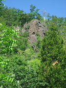 Rock Climbing Photo: The J.C. Area --- Tobacco Road and J.C. Superstar....