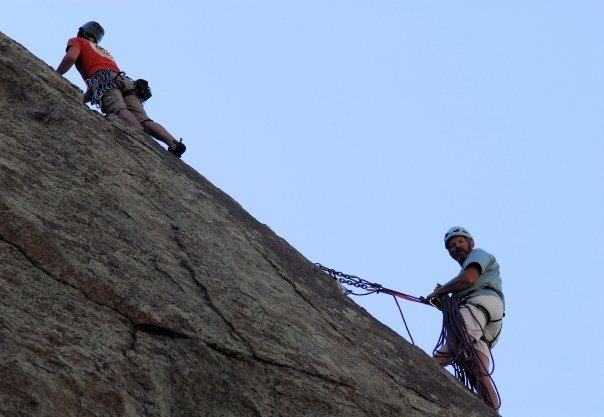 Rock Climbing Photo: Gary and I on a 3 pitch climb.