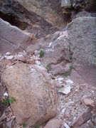 Rock Climbing Photo: This is where you stand to belay for the Great Zot...