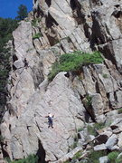 Rock Climbing Photo: Climbers on the convenient Lower Bowling Alley spo...