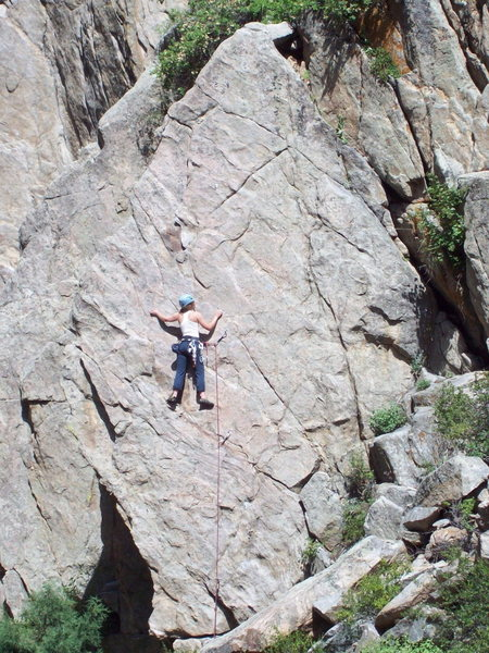 Rock Climbing Photo: The Fin, Lower Bowling Alley, Boulder Canyon.