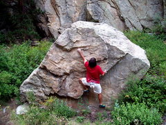 Rock Climbing Photo: The Bowling Block, Lower Bowling Alley, Boulder Ca...