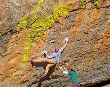 Rock Climbing Photo: Jon Molmstead on 'Evilution' v10