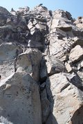 Rock Climbing Photo: Looking up from the bottom of Eagle Route and Wind...