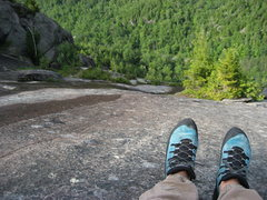 Rock Climbing Photo: Adirondacks-Chapel Pond Slab- July 09'