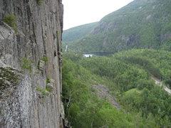 Rock Climbing Photo: Spider's Web cliff.  Adirondacks-2009