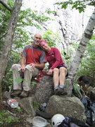 Rock Climbing Photo: Spider's Web cliff. Mark and Michelle.  Adirondack...