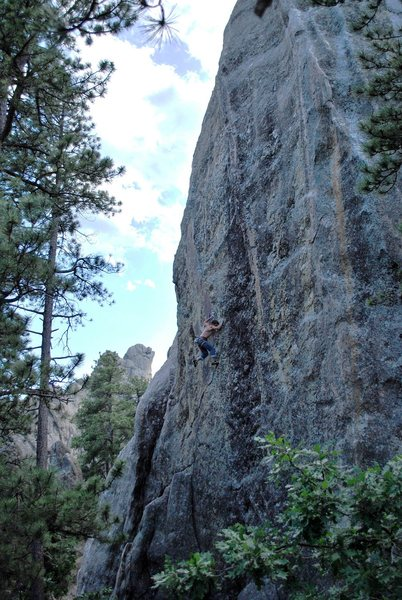 Rock Climbing Photo: Mid-crux on Butterfly