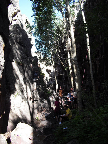 Rock Climbing Photo: I apologize for the crappy picture, but it's the b...
