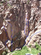 Rock Climbing Photo: Topo of the main road side/second tunnel area.