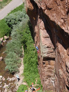Rock Climbing Photo: Chirs working his way up the lower seem on Under S...