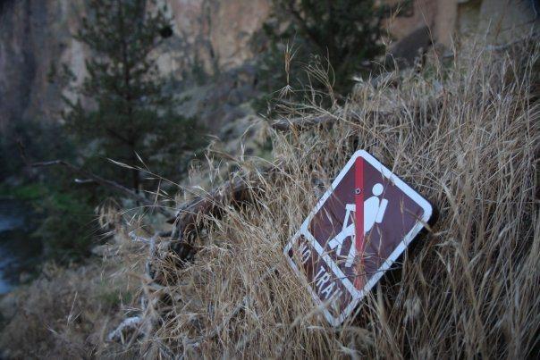 no trail
