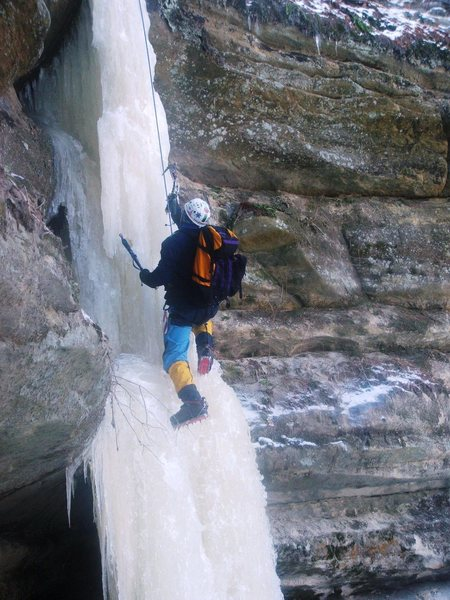 Rock Climbing Photo: Ice season is short in the midwest.