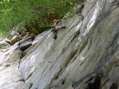 Rock Climbing Photo: Jeremy Steck at the crux on Grit & Bear It.