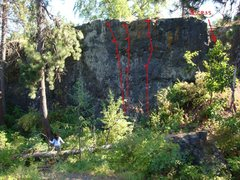 Rock Climbing Photo: cliff drive main wall, right