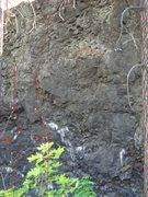 Rock Climbing Photo: cliff drive main wall,left