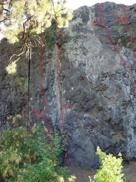 cliff drive main wall, center
