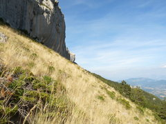 Rock Climbing Photo: Late afternoon light makes the grass glow golden n...