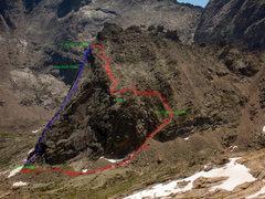 Rock Climbing Photo: Descent beta.