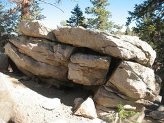 Rock Climbing Photo: The Warm-Up Boulder (north side), Tramway