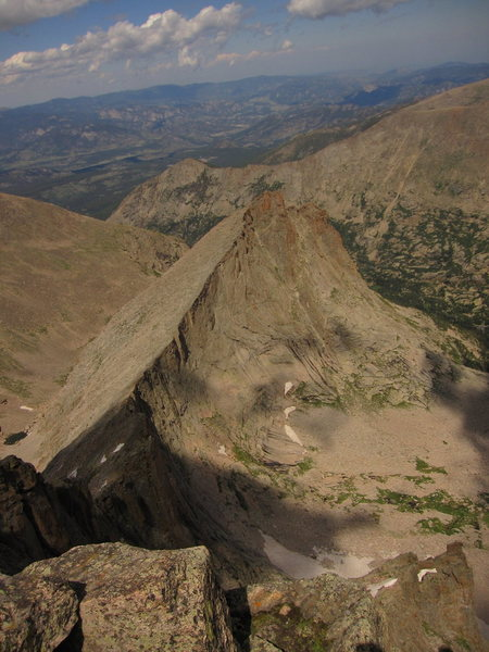Looking down the ridge from the summit of McHenry's.