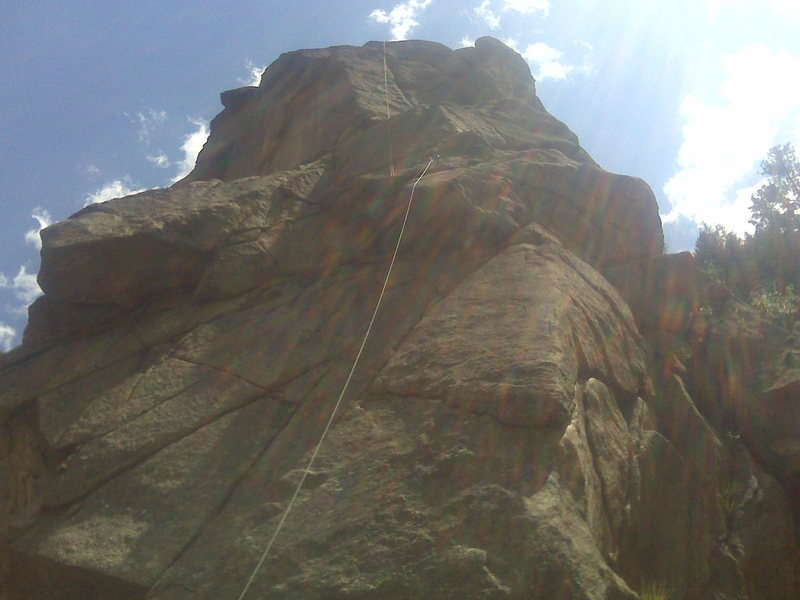 Rock Climbing Photo: A view just over the crux of the first pitch.