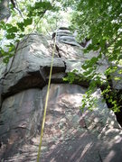 Rock Climbing Photo: Energizer starts on the right arete and traverses ...