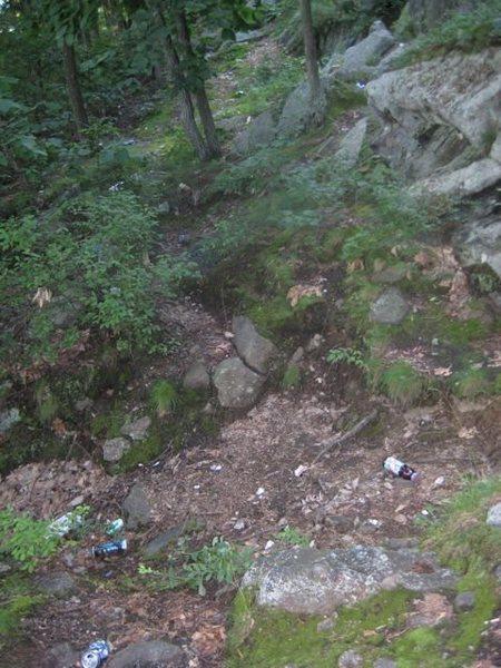 trash at rock rimmon